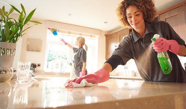 Eh Maids House Cleaning Service Two Cleaners Cleaning
